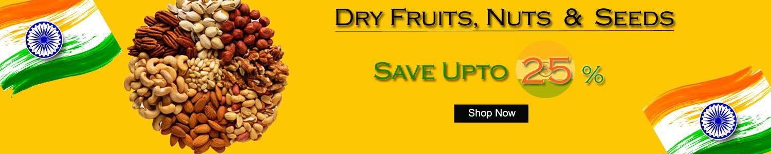 Buy Dry Fruits, Nuts, Berries & Seeds Online On Grocio is one stop shop for online grocery shopping in Noida.